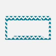 Chevron Teal License Plate Holder