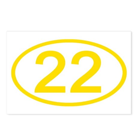 Number 22 Oval Postcards (Package of 8)