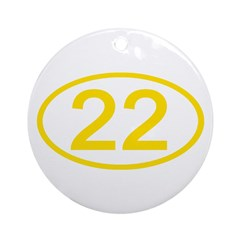 Number 22 Oval Ornament (Round)
