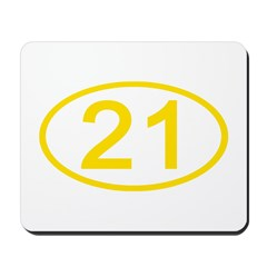 Number 21 Oval Mousepad