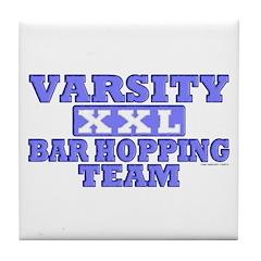 Varsity Bar Hopping Team Tile Coaster