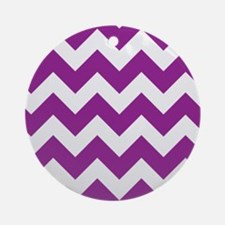 Chevron Purple Ornament (Round)