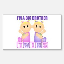 I'm A Big Brother (BGG:blk) Rectangle Decal