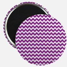 "Chevron Purple 2.25"" Magnet (10 pack)"