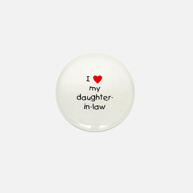 I love my daughter-in-law Mini Button