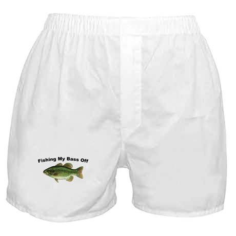 Fishing My Bass Off Boxer Shorts