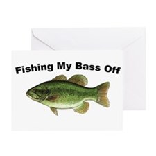 Fishing My Bass Off Greeting Cards (Pk of 10)