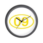 Number 09 Oval Wall Clock