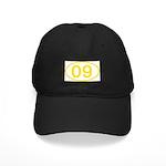Number 09 Oval Black Cap