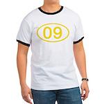 Number 09 Oval Ringer T