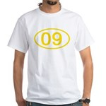 Number 09 Oval Premium White T-Shirt