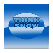 Think Snow Snowdrifts Tile Coaster