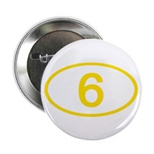 """Number 6 Oval 2.25"""" Button (10 pack)"""