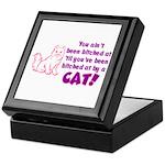 Bitched at by a Cat Keepsake Box