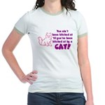 Bitched at by a Cat Jr. Ringer T-Shirt