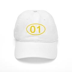 Number 01 Oval Baseball Cap
