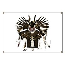 Native American Feathers Banner