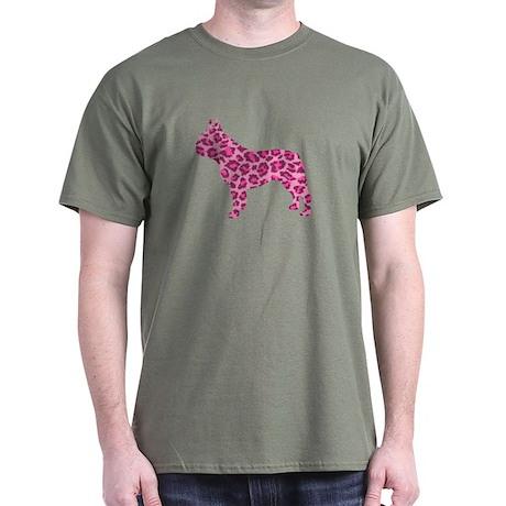 Pink Leopard Frenchie Dark T-Shirt