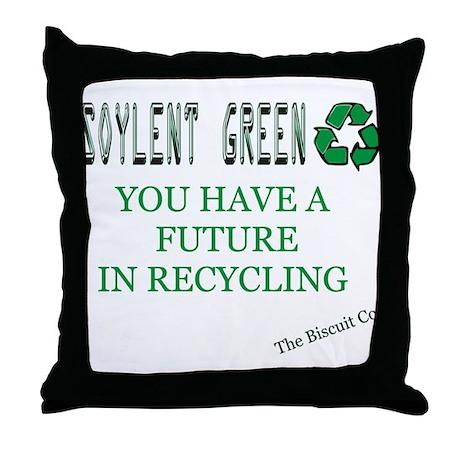 Soylent Green Recycling Throw Pillow