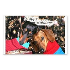 Happy Holidays Rectangle Decal