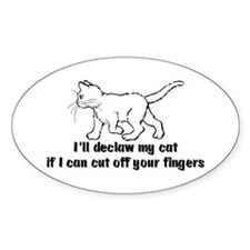 Anti-Declawing Oval Decal