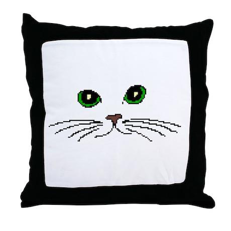Cats Face Throw Pillow