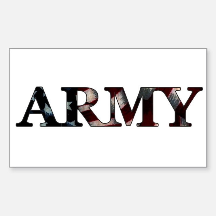 Army (Flag) Rectangle Decal