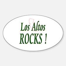 Los Altos Rocks ! Oval Decal