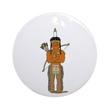 Indian Brave Ornament (Round)