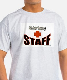Veterinary Staff Ash Grey T-Shirt