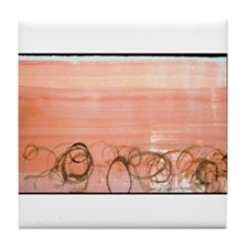 "John Cage ""New River Watercolor"" Tile Coaster"