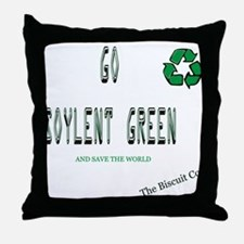 Go Soylent Green Throw Pillow