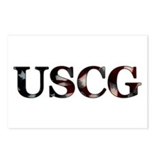USCG (Flag) Postcards (Package of 8)