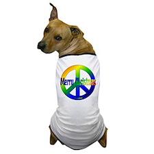 Merry Christmas Peace Sign Dog T-Shirt