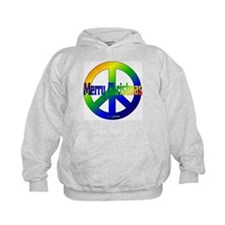 Merry Christmas Peace Sign Hoodie