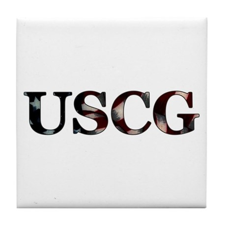 USCG (Flag) Tile Coaster