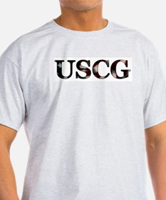 USCG (Flag) Ash Grey T-Shirt