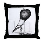Swing Pouter Pigeon Throw Pillow