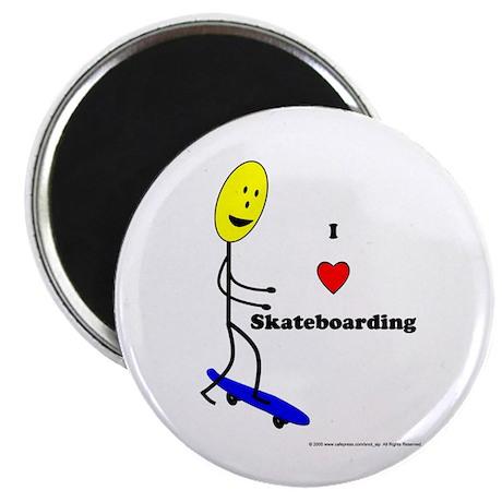 "Skateboard Smiley 2.25"" Magnet (10 pack)"