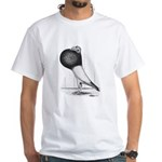 Starwitzer Pouter Pigeon White T-Shirt