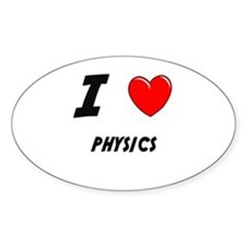 PHYSICS Oval Decal