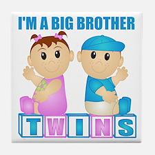I'm A Big Brother (PBG:blk) Tile Coaster