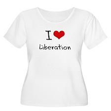 I Love Liberation Plus Size T-Shirt