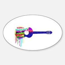 Guitar Paintdrips Decal