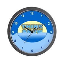 Think Snow Snowdrifts Wall Clock