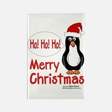 Ho! Ho! Ho! Penguin Rectangle Magnet