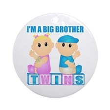 I'm A Big Brother (BBG:blk) Ornament (Round)