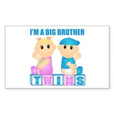 I'm A Big Brother (BBG:blk) Rectangle Decal
