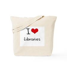 I Love Libraries Tote Bag