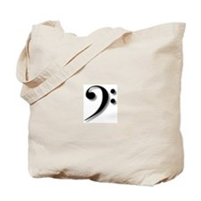 The Impressive Bass Clef Tote Bag
